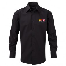 Russell Collection Mens Long Sleeve Tailored Poplin Shirt (Installer)