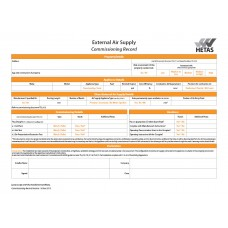 External Air Supply Commissioning Record (pad of 10)
