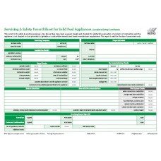 Landlord/Homeowner/Occupier Safety Record Pad