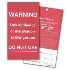 Warning Labels and Advice Notices (pad of 25)