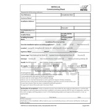 Commissioning Sheets (pad of 10)